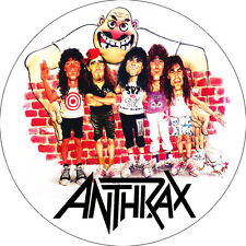 CHAPA/BADGE ANTHRAX . pin button heavy metal metallica iron maiden slayer judas