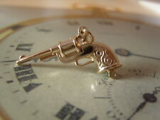 POCKET WATCH CHAIN FOB VINTAGE SILVER PLATED GUN REVOLVER FOB NEW OLD STOCK FOB