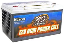XS Power D6500 3900 Amp AGM Power Cell Car Audio Battery + Terminal Hardware