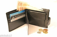 New Luxury Soft Black Quality Leather Mens Wallet, Credit Card Holder Purse