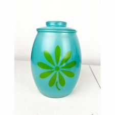 Bartlett Collins Turquoise Cookie Jar Lid Blue Green Vintage Kitschy Collectible