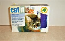 Cat Self Groomer With Catnip & Flat Or Corner Mount Brush Blue Kitty Groom Catit