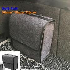 1Pc Foldable Car Trunk Organizer Storage Box Cargo Bag Portable Gray Woolen Felt
