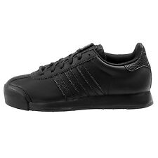 Adidas Samoa Big Kids AQ7917 Black Embossed Leather Athletic Shoes Youth Sz 7