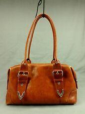 Wilsons Leather Doctor Satchel Handbag Purse Shoulder Bag Distressed Brown
