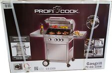Profi Cook PC-GG 1058 Gasgrill Grillwagen  Edelstahl 4 Brenner