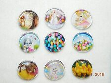NEW EASTER snap button metal charms group #2 18-19MM for snap button jewelry