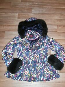 JUICY COUTURE COAT WITH FAUX FUR TRIM AROUND HOOD AND CUFFS AGE 12 PLEASE READ