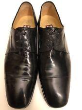 Men Star Artioli Black Ostrich Leather Shoes Sz 10 w/ Salvatore Ferragamo bag