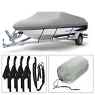 Waterproof Heavy Duty Boat Cover Protector Dustproof Trailerable V-Hull Runabout