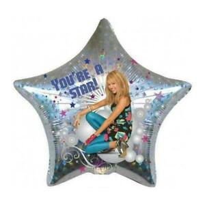 """Hannah Montana Foil Balloon """"You're A Star"""" You Are A Star Holographic 19"""" (48cm"""
