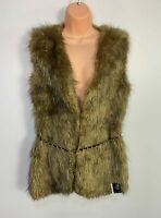 BNWT WOMENS ATMOSPHERE SIZE UK 12 FAKE FUR CASUAL GILET BODYWARMER COAT JACKET