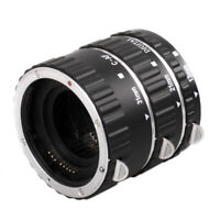 Metal Auto Focus AF Macro Extension Tube Lens Adapter Ring for Canon EOS  PKC