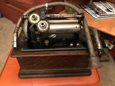 New ListingEarly Wood Edison Business Phonograph Recorder Cylinder Player Model D