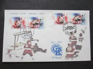 Canada first day cover, 1859 -60,  with pair also cancelled Caltapex 97, [24