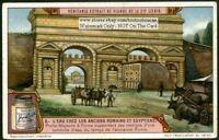Roman Aqueduct Porta Maggiore Rome Italy c1910 Trade Ad Card
