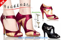 Ladies Ballroom Latin Tango Samba Salsa Dance Shoes Heels Sandals EU34-42 2Color