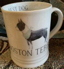 Boston Terrier Best Dog Coffee Tea Mug Julianna Swaney for Fringe Studio Euc