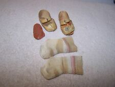 "Vintage  Shirley Temple 25"" Doll Original Oil Cloth Center Snap Shoes/Socks TLC"
