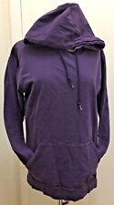 FRUIT OF THE LOOM Woman's Purple 100% Cotton Pull On Long Sleeve Hoodie Sz Med