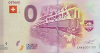 BILLET 0  EURO GSTAAD SUISSE  2017  NUMERO 100