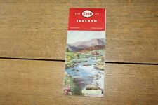 ORIGINAL VINTAGE ESSO UK MAP 1950's IRELAND IN GOOD CONDITION