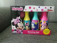 Disney Junior Minnie'S Indoor/Outdoor Bowling Set What Kids Want Inc Brand New!