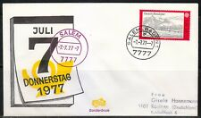 Germany 1977 cover SST Sonderstempel Salem Baden 7777