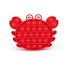 Bubble Fidget - Pop it Bubble Sensory Push Silikon Stress Relief Toy Krabbe rot