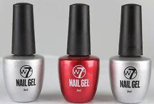 3x 8ml W7 Gel Nail Polish UV Lack Nagellack Gellack Silver Red Silber Rot CS36