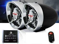 Wireless Punk skull Anti-theft Motorcycle FM MP3 USB SD Black Player Audio Stere