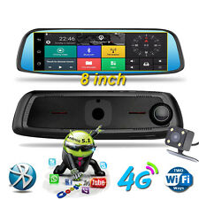 8inch 4G Touch GPS Car DVR Camera Mirror GPS WIFI Android 5.1 Dual Lens Recorder