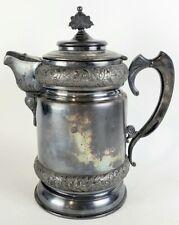 Large Meriden Wilcox Antique Insulated 359 Victorian Eastlake Water Pitcher Pot