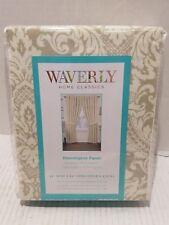 WAVERLY DONNINGTON 0792522  Linen Cotton Back Tab Single Curtain Panel 52x84