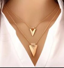 Arrow Spear Necklace Multi Layer  Gold toned