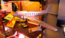 """""""NEU"""" Flugzeugmodell  Dakota DC3, Handarbeit aus Aluminium, Spannweite 97cm"""