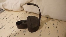 ANTIQUE BLACKSMITH HAND FORGED Steel WHALE FAT OIL BETTY LAMP LIGHT