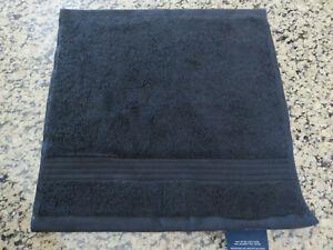 RALPH LAUREN Washcloth Towel Bowery Black Cotton