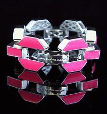 Marc Jacobs M0002110 Armreif Armband Farbe: Silber/Pink NEU!