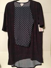 NWT Lularoe Outfit - Small Irma Tunic Top w/TC Legging - Purple Blue Raspberry