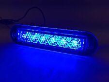 """MARINE BOAT BLUE LED STRIP LIGHT 14LM FLUSH MOUNT 12V 1.2W IP67 4500K 3.9""""X0.9"""""""