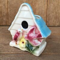 Vintage McCoy or Shawnee USA Pottery Bird House Wall Pocket Planter Vase