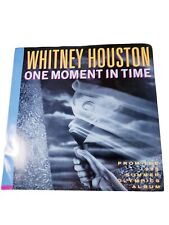 Whitney Houston Picture Sleeve Single One Moment in Time 45 Record 1988 VG