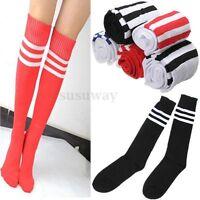 Thigh High Sock Over Knee Legging Socks Stockings Girls Women Stripe Cheerleader