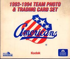 1993-94 Rochester Americans Team Photo & Trading Card Set 090917nonjhe