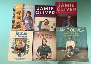 6 x Jamie Oliver books Naked Chef / Ministry of Food / Jamie's Kitchen / At Home