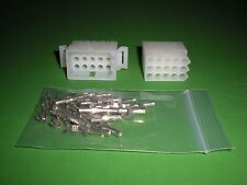 """15 Pin Molex Connector Lot, 1 Matched Set, w/18-22 AWG .093"""" Pins, Free Hanging"""