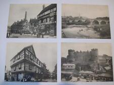 Set 12 Large old printed views Shrewsbury Shropshire Frith NOT POSTCARDS