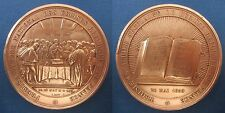 MEDAL PROTESTANT 1859 FIRST NATIONAL SYNOD REFORMED CHURCH OF FRANCE signed by