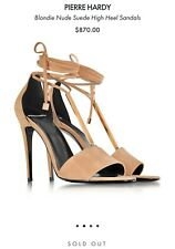 Pierre Hardy,  Blondie Nude Suede High Heel Sandals